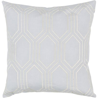Lambda Down Fill Linen Throw Pillow Size: 20 H x 20 W x 4 D, Color: Light Gray