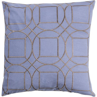 Lambda Linen Throw Pillow Size: 20 H x 20 W x 4 D, Color: Sky Blue