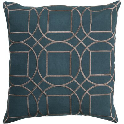 Lambda Linen Throw Pillow Size: 18 H x 18 W x 4 D, Color: Teal