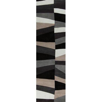 Carlotta Charcoal Gray/Misty White Area Rug Rug Size: Runner 26 x 8