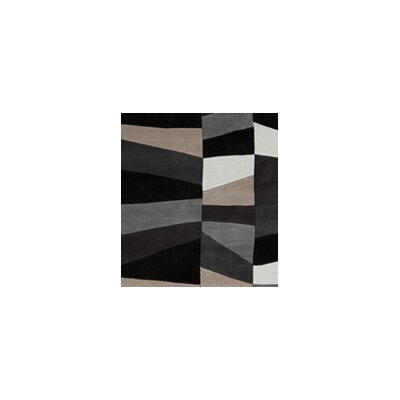 Carlotta Charcoal Gray/Misty White Area Rug Rug Size: 36 x 56