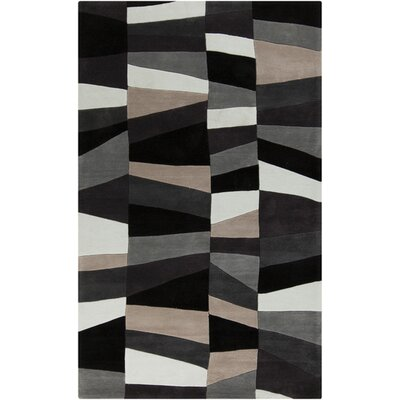 Carlotta Charcoal Gray/Misty White Area Rug Rug Size: Rectangle 36 x 56