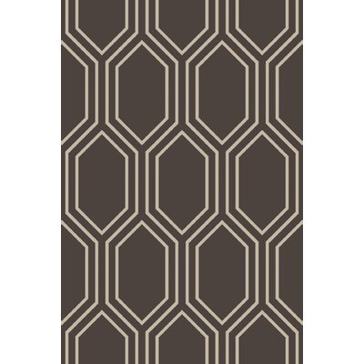 Camlin Charcoal/Taupe Geometric Rug Rug Size: Rectangle 33 x 53