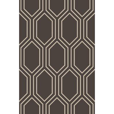 Camlin Charcoal/Taupe Geometric Rug Rug Size: 33 x 53