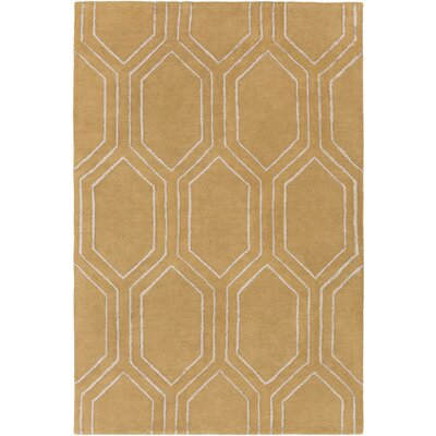 Camlin Hand-Tufted Tan Area Rug Rug Size: Rectangle 5 x 76