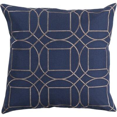 Camlin 100% Linen Throw Pillow Cover Size: 18