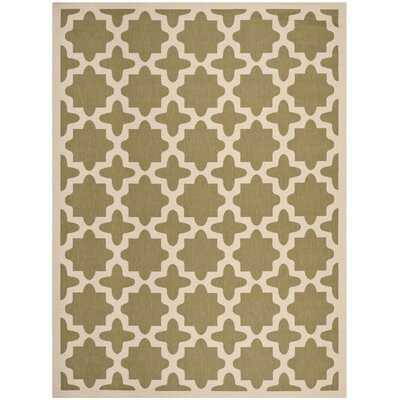 Plano Green/Beige Indoor/Outdoor Area Rug Rug Size: 8 x 11