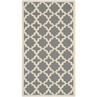 Fredricks Anthracite & Beige Indoor/Outdoor Area Rug Rug Size: Rectangle 2 x 37