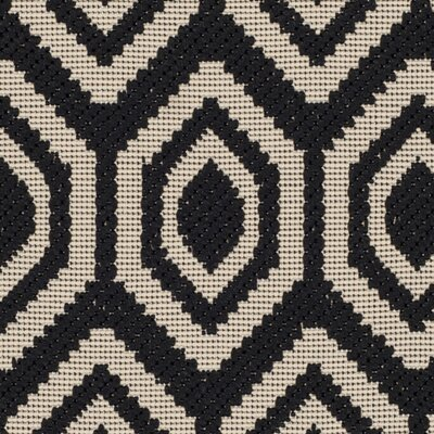 Miami Black/Beige Outdoor Rug Rug Size: Runner 23 x 67