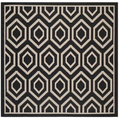 Catharine Black/Beige Outdoor Rug Rug Size: Square 710