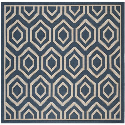 Catharine Navy/Beige Outdoor Rug Rug Size: Square 710