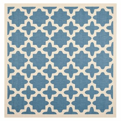 Plano Blue/Beige Outdoor Area Rug Rug Size: Square 4