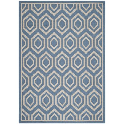 Catharine Blue/Beige Outdoor Area Rug Rug Size: Rectangle 2' x 3'7