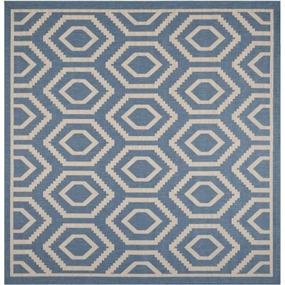 Miami Blue/Beige Outdoor Area Rug Rug Size: Square 710