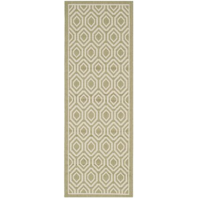 Catharine Green/Beige Outdoor Rug Rug Size: Runner 23 x 67