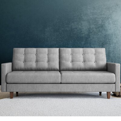 Canyon Sandy Tufted Sofa Color: Grey