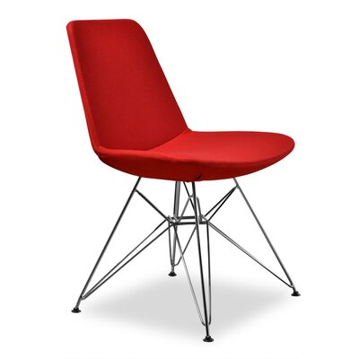 Brook Side Chair Upholstery: Red
