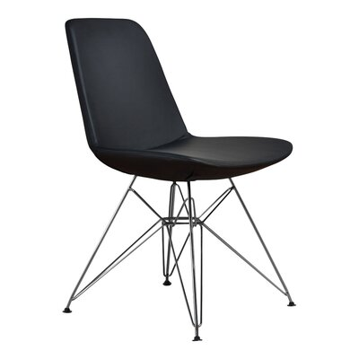 Brook Solid Side Chair Color: Black