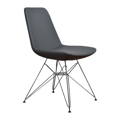 Brook Solid Side Chair Color: Gray