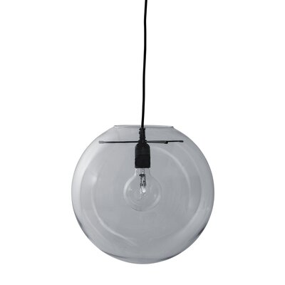 Waco 1-Light Mini Pendant Shade Color: Smoke