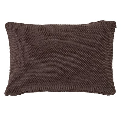 Gabriella Cotton Lumbar Pillow Color: Brown