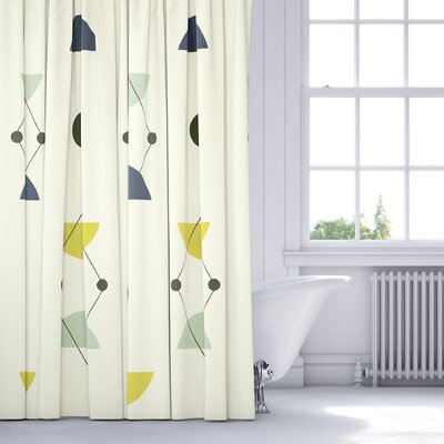 Greenville Shower Curtain Color: Blue/Multi