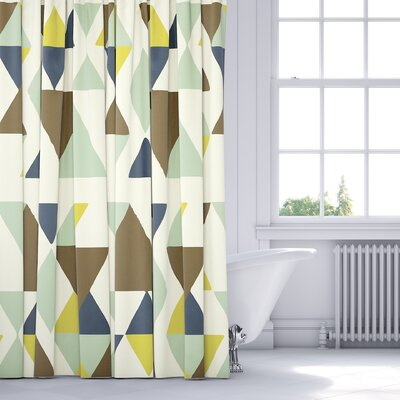 Hague Shower Curtain Color: Blue/Multi