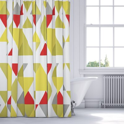 Hague Shower Curtain Color: Green/Multi