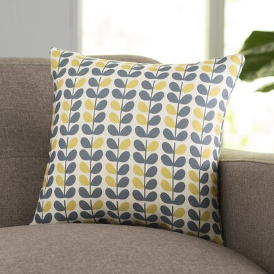 San Lorenzo Throw Pillow Size: 18 H x 18 W, Color: Blue/Yellow