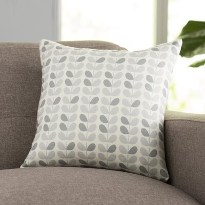 San Lorenzo Throw Pillow Size: 18 H x 18 W, Color: Gray