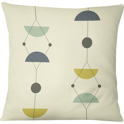 San Martin Outdoor Throw Pillow Size: 16 H x 16 W, Color: Gray/Multi