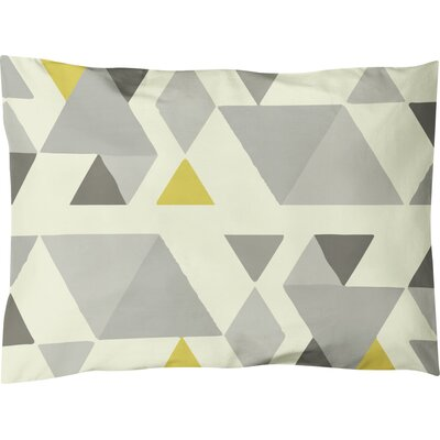 Hague Lightweight Pillow Sham Size: King, Color: Gray/Multi