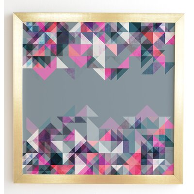 'Graphic 165 Y' by Mareike Boehmer Framed Graphic Art Frame Color: Gold, Size: 12