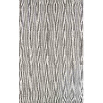 Calvert Mathew Hand-Woven Gray Area Rug Rug Size: Rectangle 5 x 8