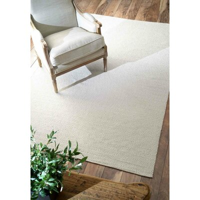 Asther Hand-Woven Taupe Area Rug Rug Size: Rectangle 5 x 8
