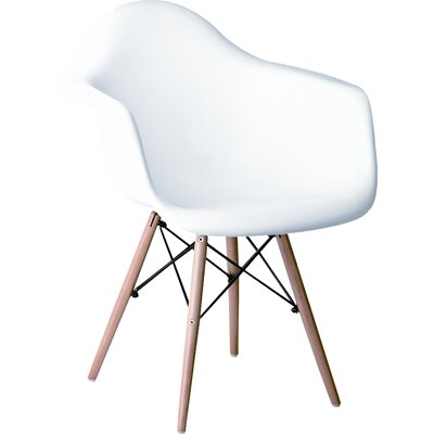 Ethan Arm Chair (Set of 2) Finish: White