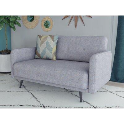 Zelmo Loveseat Upholstery: Ash