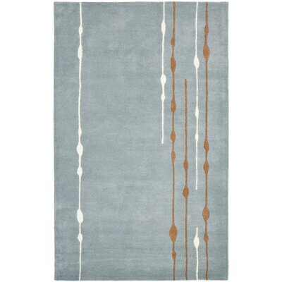 Sioux City Blue / Light Dark Multi Contemporary Rug Rug Size: 76 x 96