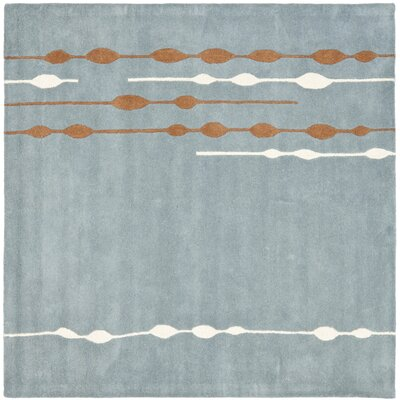 Sioux City Blue / Light Dark Multi Contemporary Rug Rug Size: Square 6