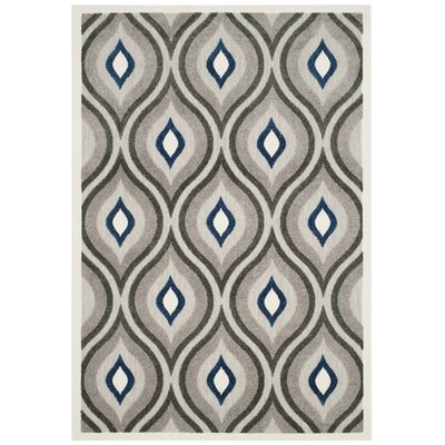 Syracuse Gray/Royal Area Rug Rug Size: 5'3