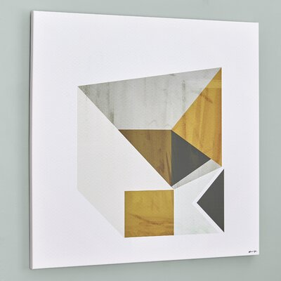 Langley Street Mustard Geo Wall Art on Canvas