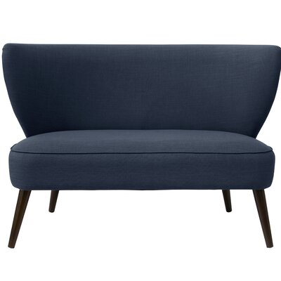 Bayonne Armless Settee Upholstery Color: Navy