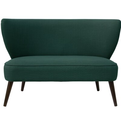 Bayonne Armless Settee Upholstery: Conifer Green