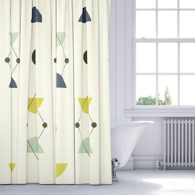 San Martin Shower Curtain Color: Blue/Multi