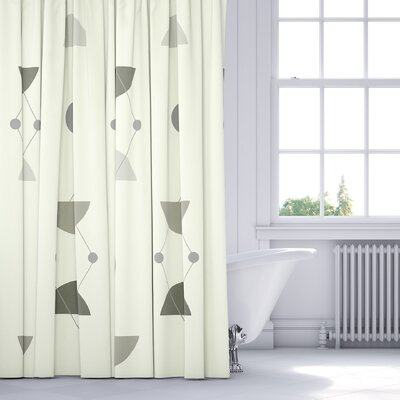 San Martin Shower Curtain Color: Gray/Multi