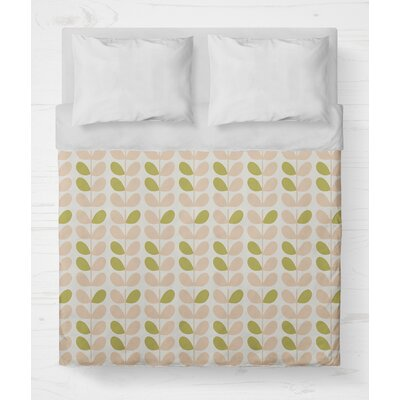 San Lorenzo Lightweight Duvet Cover Color: Pink/Sage, Size: Queen