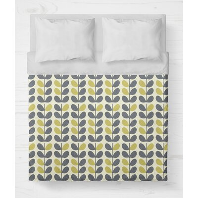 Guilderland Lightweight Duvet Cover Size: King, Color: Blue/Yellow