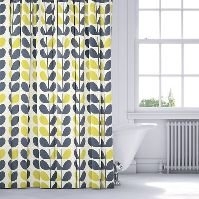 Guilderland Shower Curtain Color: Blue/Yellow