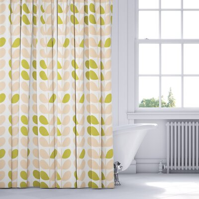 San Lorenzo Shower Curtain Color: Pink/Sage