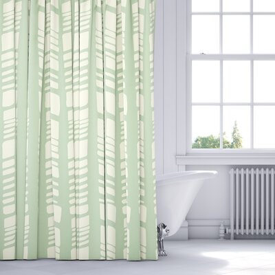 Sahara Shower Curtain Color: Seafoam